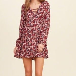 cute lace up floral dress